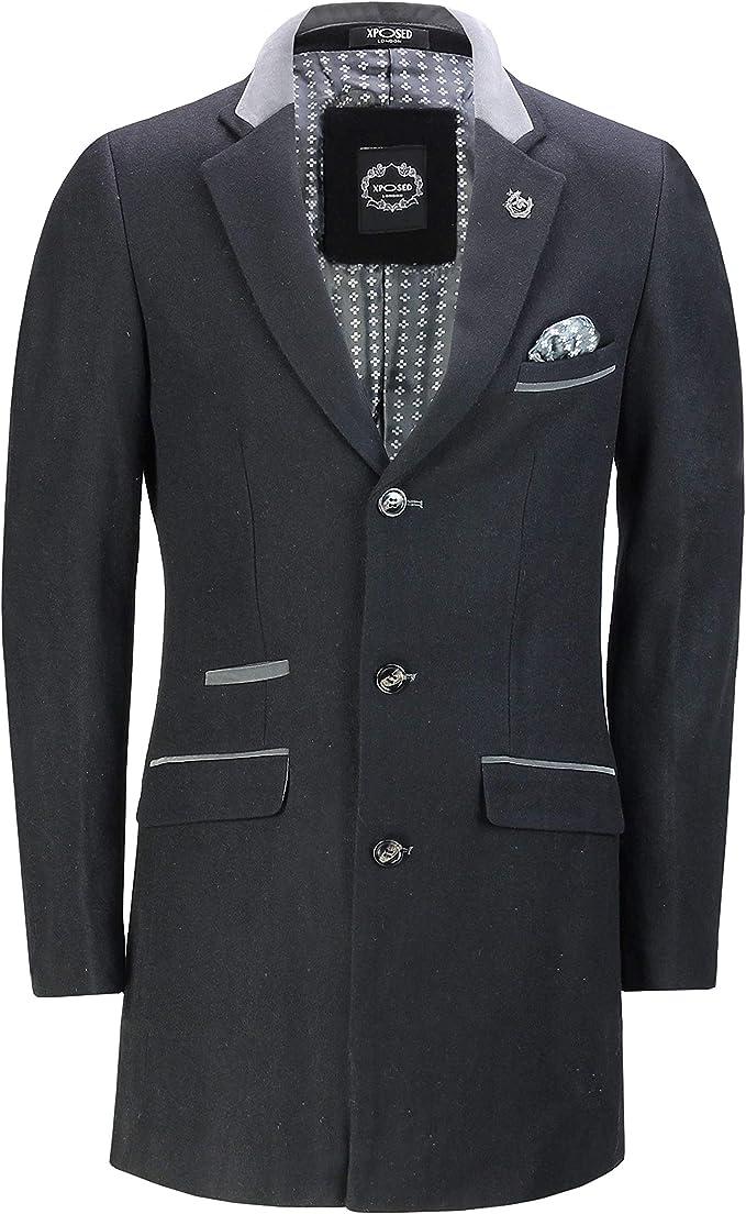herren jacken and mantel xposed herren jacke mantel  gestreift schwarz schwarz amazon de  xposed herren jacke mantel  gestreift