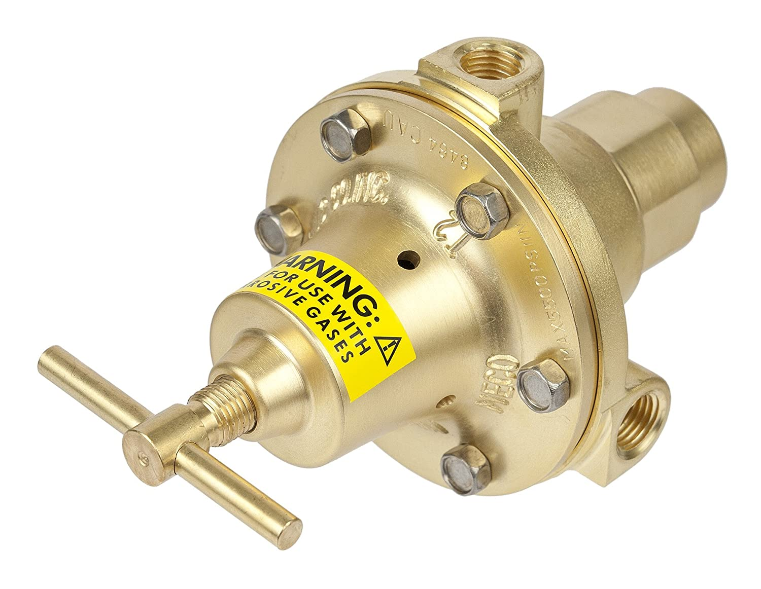 Victor Technologies 5641-8464 Meco High Pressure Cylinder Regulator with T Screw 1//4-18 NPT Inlet Connection 1//4-18 NPT Inlet Connection 150 psi Pressure