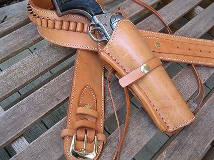 Shotgun Lilli Gun Belt - Leather - 22 Caliber - Natural Color with 6