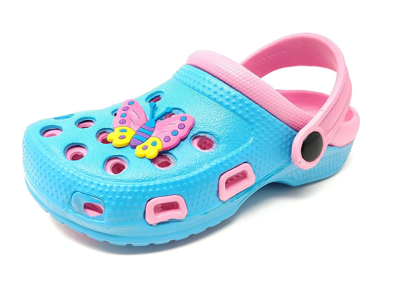 Carcassi Sandali con Zeppa Unisex per Bambini, (Pink/White/Butterfly), 37 EU Bambino