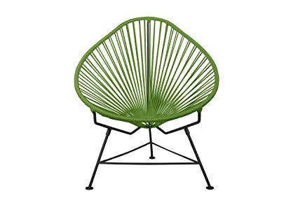 Innit Designs Acapulco Chair, Olive Weave On Black Frame