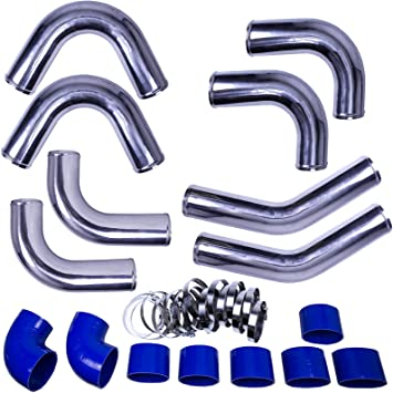 "3/"" Silicone Hose//Intake//Intercooler Pipe Elbow Coupler BLUE For Hyundai"