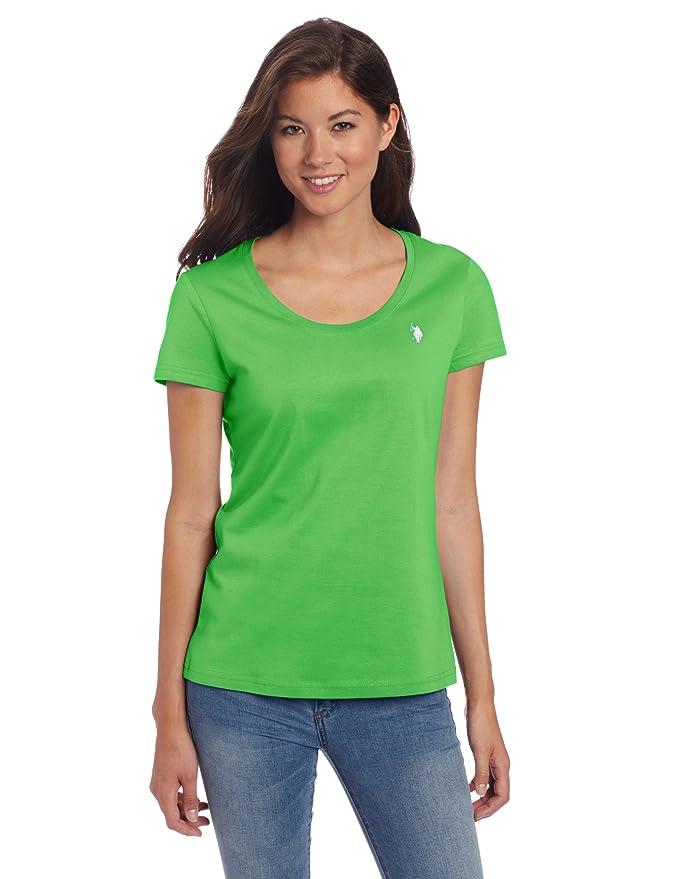 U.S. Polo Assn. Women's T-Shirt With Short Sleeves, Juicy Green, X ...