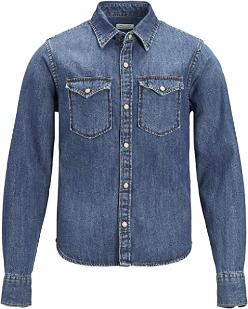 Jack /& Jones Boys JJESHERIDAN Denim Shirt
