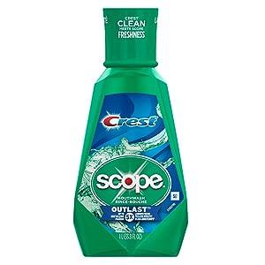 Crest Scope Outlast Mouthwash, 33.8 Fl Oz (Pack of 6)