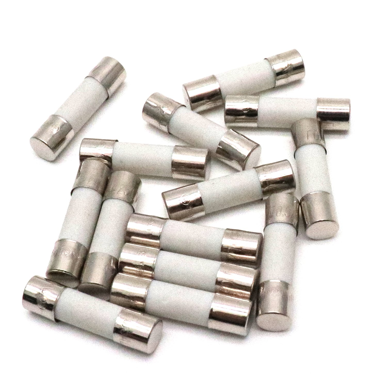 Yootop 100Pcs 250V 0.5A Fast Blow Ceramic Fuses Tubes Fast Acting Ceramic Cartridge Fuse 5x20mm