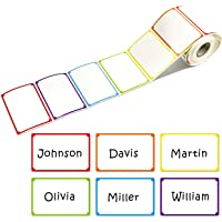 """300pcs 6 Colors Plain Name tag Labels with Perforated Line for School Office Home (3.5""""x2.2"""" Each) …"""