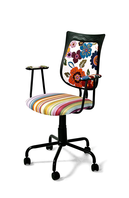 Global Trade Stuhl mit Rollen Fantasy Flower mehrfarbig: Amazon.de ...