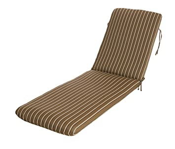 phat tommy sunbrella outdoor chaise lounge cushion u2013 patio furniture replacement cocoa - Sunbrella Patio Furniture