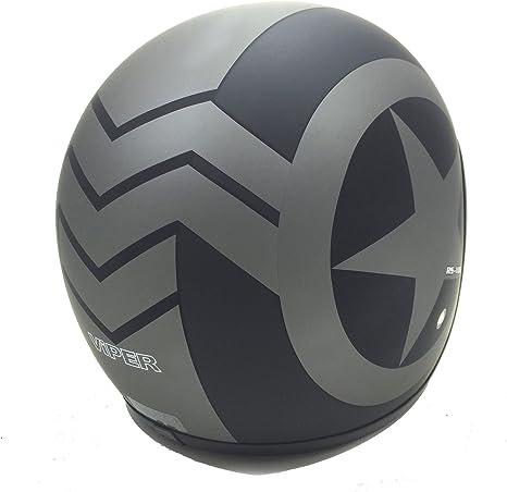 Viper Helmets Motorradhelm Rsv06 Matt Black Star 61 62 Cm Auto
