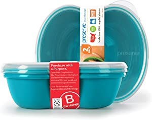 Preserve Food Storage Container, Set of 2, Aqua Blue