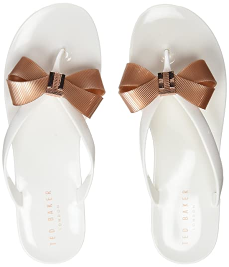 caca8f9a589fc Ted Baker Suszie - White Rose Gold PVC (Man-Made) Womens Sandals ...