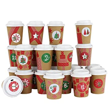 Papierdrachen Diy Adventskalender Kaffee Becher Zum Selber Basteln