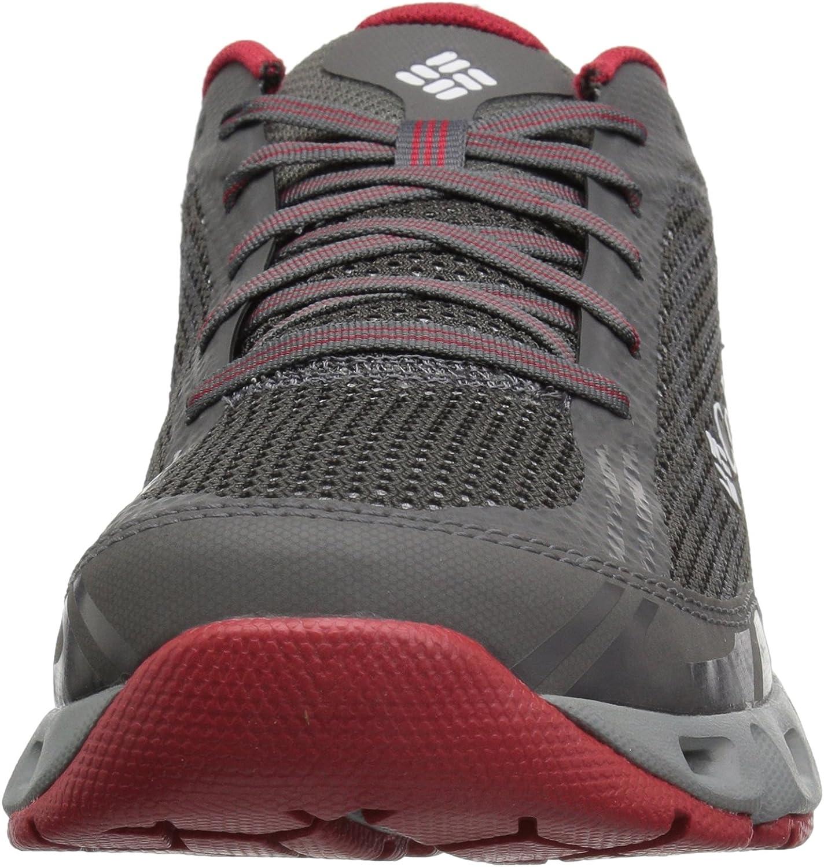 Columbia Drainmaker Iv, Chaussures de Randonnée Basses Homme Gris City Grey Mountain Red 023