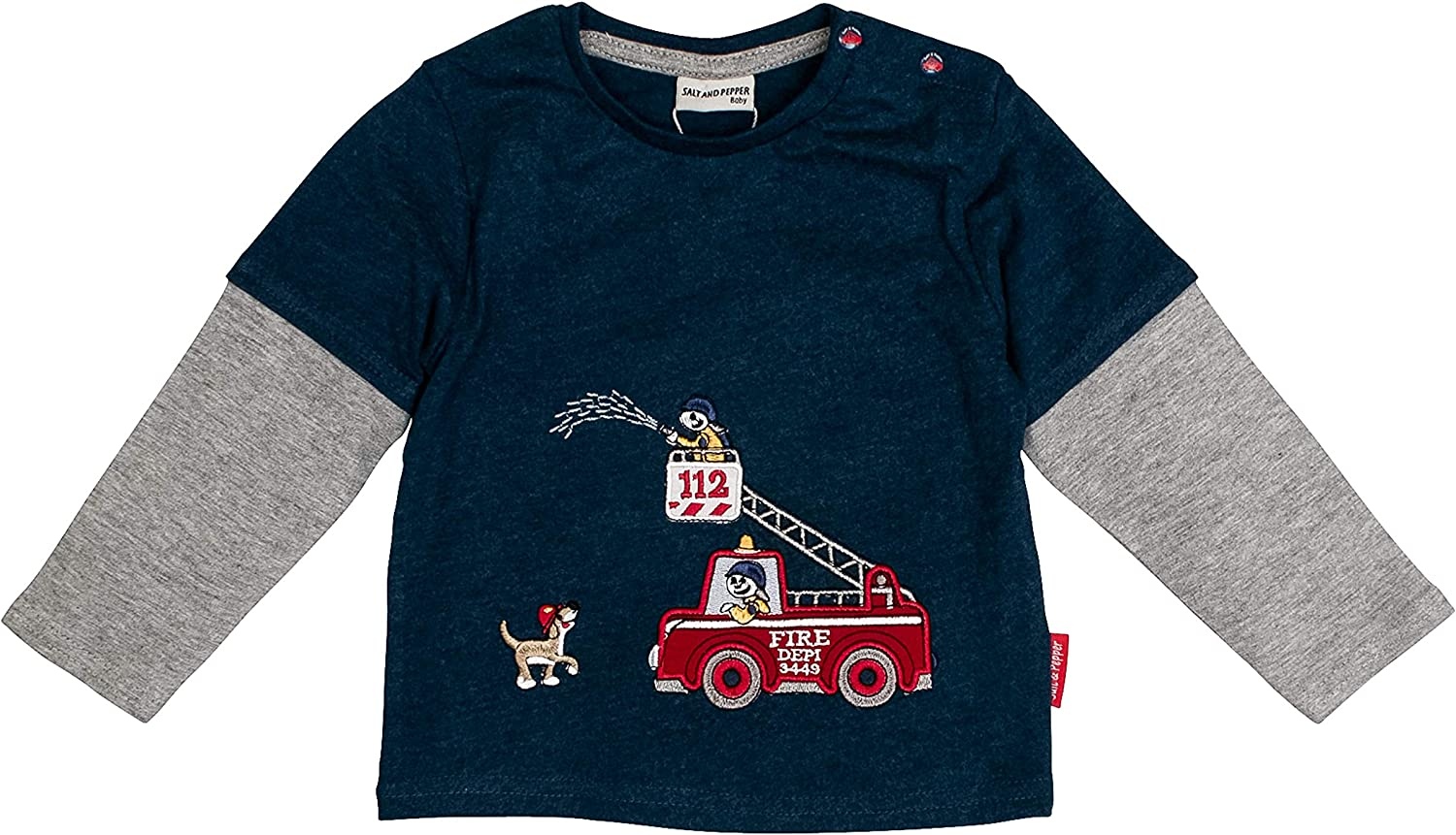 SALT AND PEPPER Baby-Jungen Langarmshirt