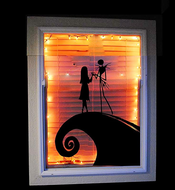 Amazon Com Jack And Sally Nightmare Before Christmas Window Decal Halloween Decoration Disney Window Decal Handmade
