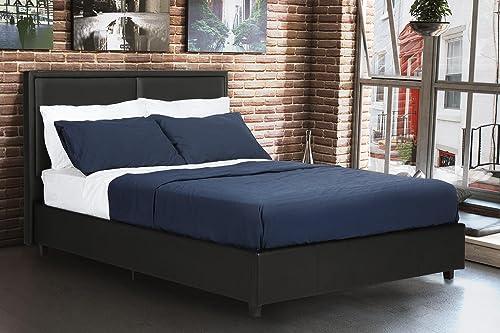 DHP Bridgeport Upholstered Faux Leather Platform Bed