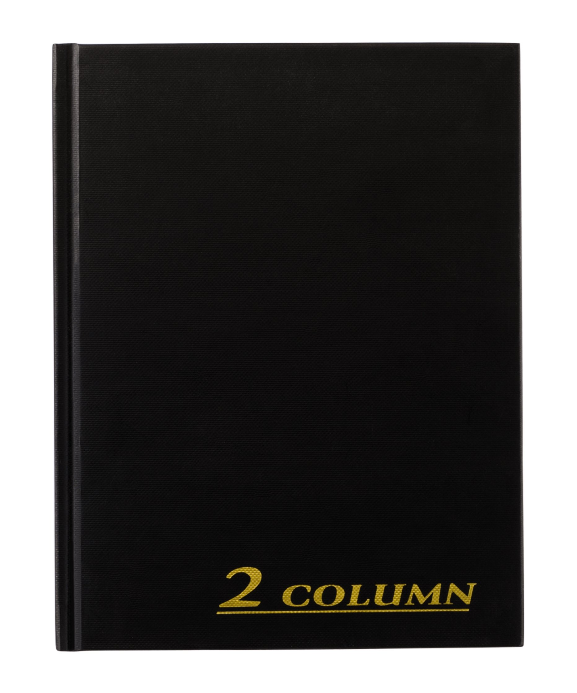 Adams Account Book, 2-Column, Black Cloth Cover, 9.25 x 7 Inches, 80 Pages per Book (ARB8002M)
