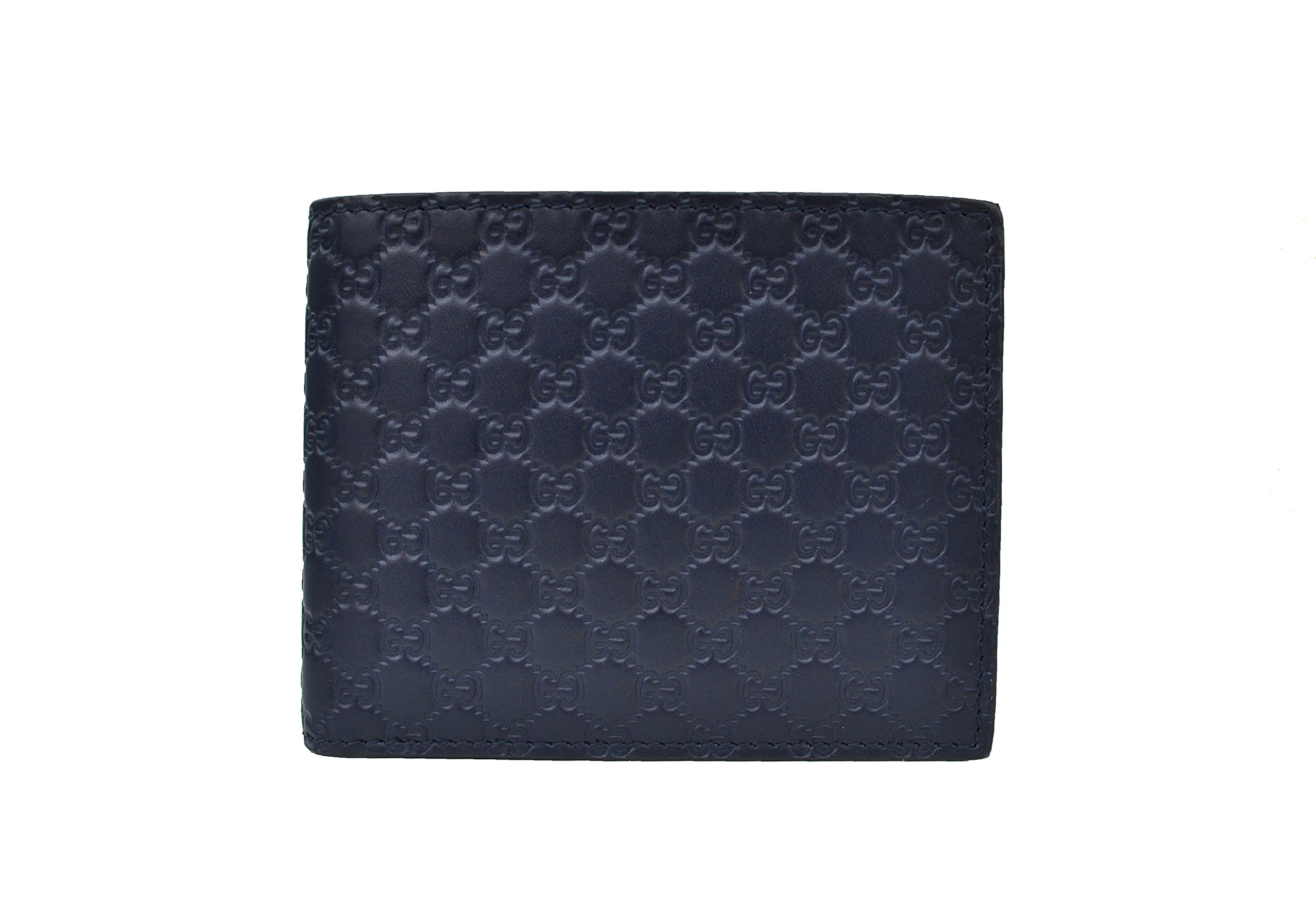 GUCCI Microguccissima Leather Wallet, Blue 278596BMJ1N4009
