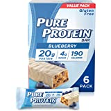 Pure Protein Bars, High Protein, Nutritious Snacks to Support Energy, Low Sugar, Gluten Free, Blueberry Greek Yogurt, 1.76 oz