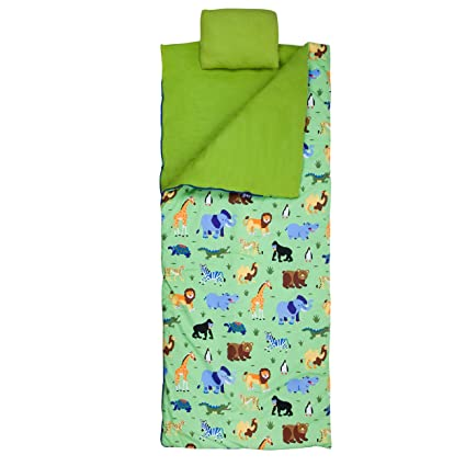 size 40 fb222 09dbf Wildkin Sleeping Bag for Toddler Boys and Girls, Includes Pillow and Stuff  Sack, Perfect Size for Slumber Parties, Camping, and Overnight Travel, ...