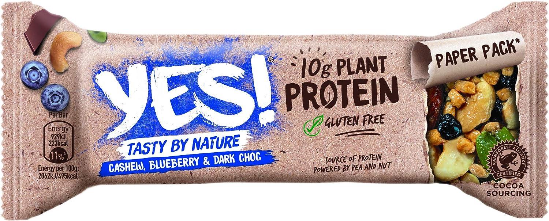 YES! Protein Arándanos Anacardos Frutos Secos 45 g - Pack de 12