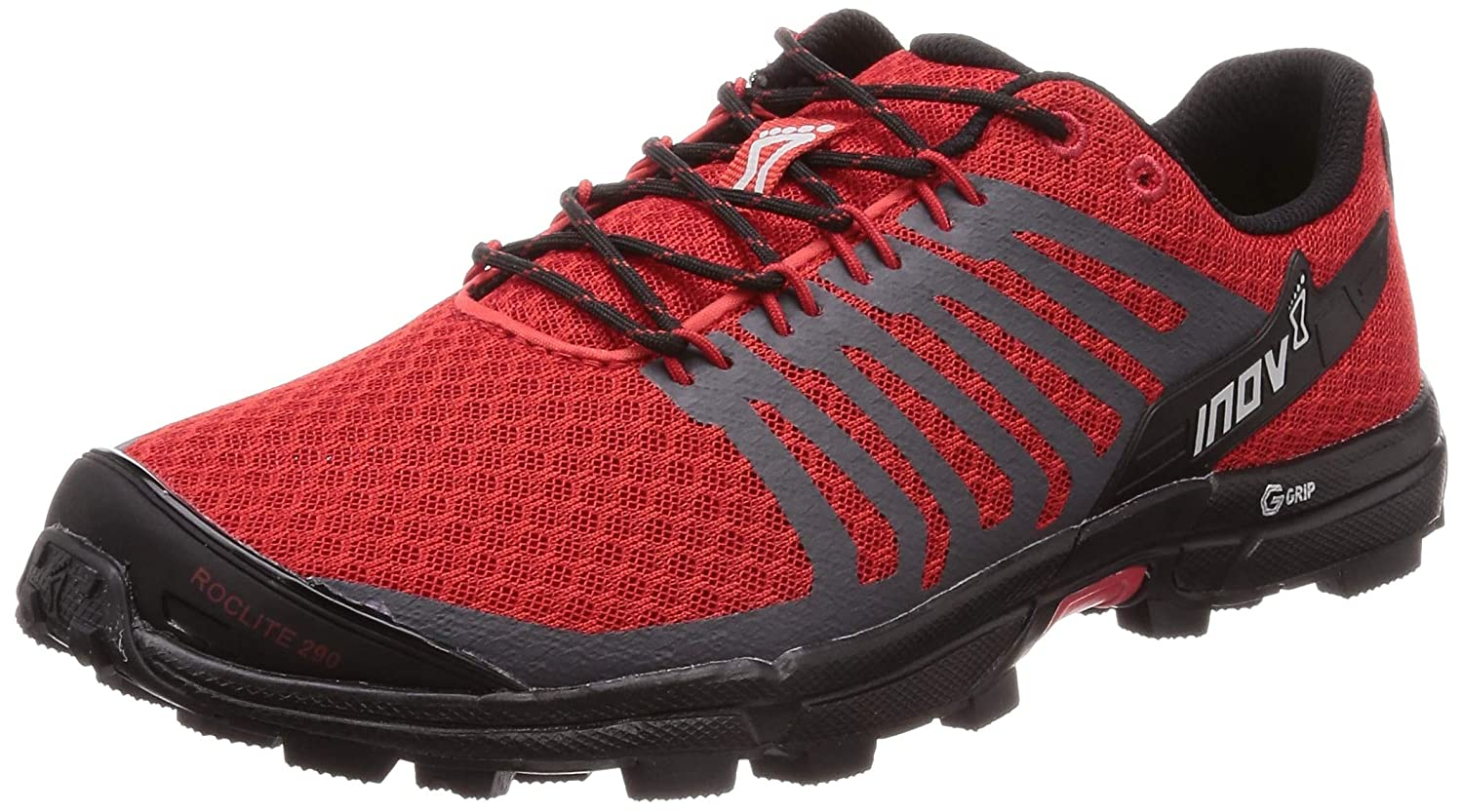 Red Black Inov-8 Mens Roclite 290 V2   Trail Running OCR shoes   Lightweight   Superior Durability & Unrivalled Graphene Grip