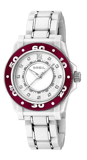 Breil TW1024 - Reloj analógico de cuarzo para mujer, correa de poliuretano color blanco