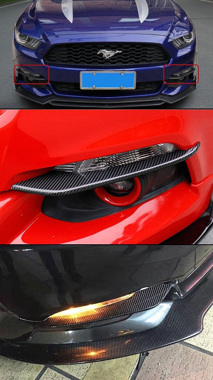 Cuztom Tuning Fits for 2015-2017 Ford Mustang GT S550 Real Carbon Fiber Bumper Fog Light Canard Strip Trim