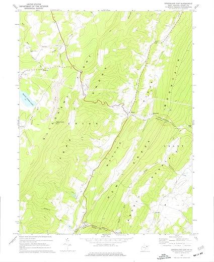 Amazon.com: West Virginia Maps | 1967 Greenland Gap, WV USGS ...
