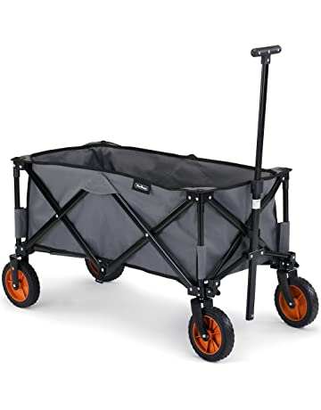 9452edbf4 VonHaus Folding Camping Cart with Lining - 4 Wheeled Collapsible Festival  Trolley