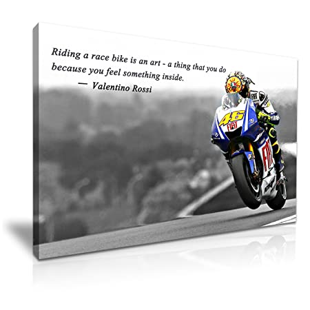 Yes Art Valentino Rossi Quote Canvas Moto Gp Sport Star Art Print