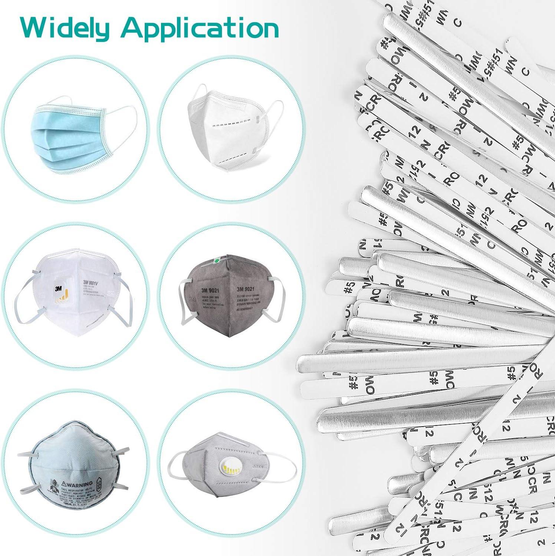 strisce di alluminio artigianato filo fai da te per cucito 90 mm clip per naso supporto per ponte nasale autoadesive in metallo per naso 200 strisce in alluminio per naso