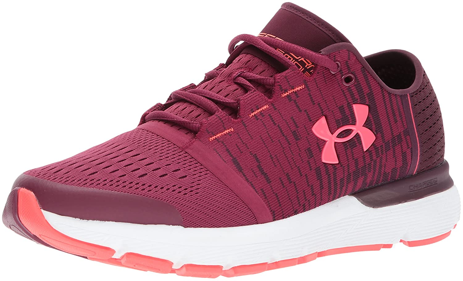 Under Armour Women's Speedform Gemini 3 Graphic Running Shoe B01N0P5IL3 7 M US|Raisin Red (500)/White