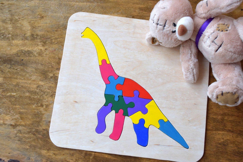 Hölzernes Puzzlespiel Baby Holz Dinosaurier Spielzeug Montessori pädagogisches Spielwaren spiel Kleinkind holz Baby Geschenk Waldorf Dino kinder Geduldspiel organisches umweltfreundliches Holz Kindspielzeug Stapel spielzeug Lern spielzeug jigsaw Puzzle