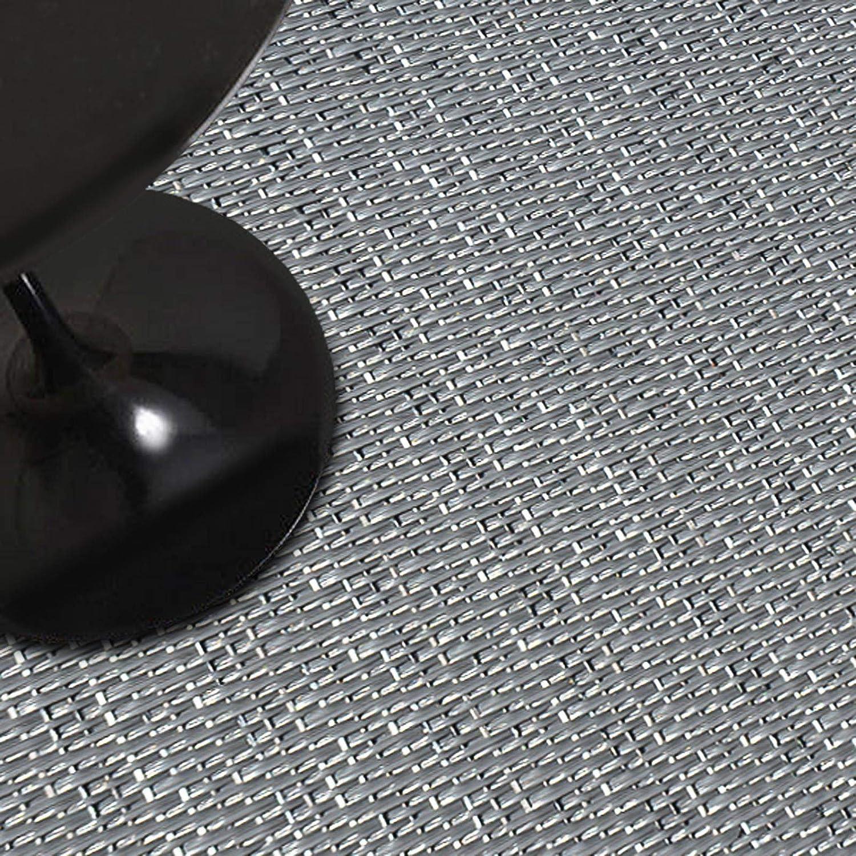 Indoor- & Outdoor-Teppich     Bodenbelag für Flur, Küche, Bad, Terrasse, Balkon   4 Farben   viele Größen (Hellgrau, 180x150 cm) B07NVK8D2Y Teppiche 274966