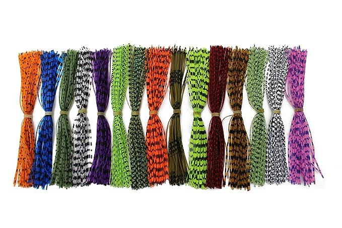 15 paquetes de hilos de 13 cm de Tigofly, de silicona, con copos de perlas, para anudamiento de mosca de bricolaje y para formar faldones y cucharillas, ...