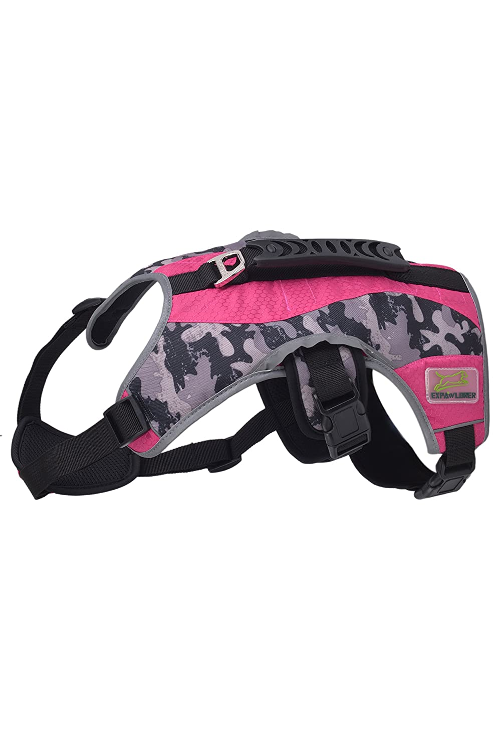 Pink XL:petto circonferenza 26.7 Pink XL:petto circonferenza 26.7 BeMiracle Escape Proof Dog Harness Air Mesh Reflective 5 Points Adattamento Pet Vest Multi -Use Harness con Handle Handle for Dogs Hiking, Walking &B &&B