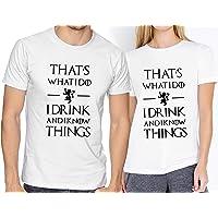 Playeras Elite Got Game Of Thrones I Drink And I Know Things Novios Parejas #526