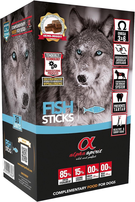 ALPHA SPIRIT Snack de Pescado para Perros - 30 Barritas