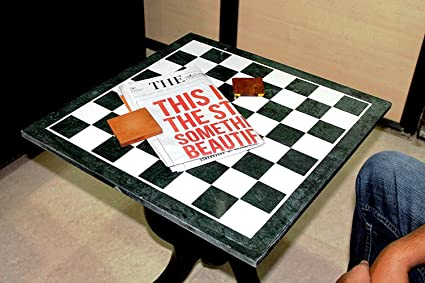MS INTERNATIONAL 20u0026quot; Green Marble Chess Design With Inlay Work Coffee  Table/ Centre Table
