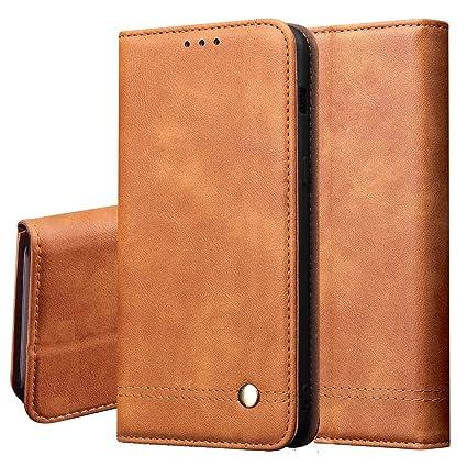 LG Stylo 5 Case,LG Stylo 5 Wallet Case,LG Stylo 5 Plus Cse,PU Leather Magnetic Folio Flip Card Slots Holster for Men Women w//Strap//Kickstand Protective Phone Case-Black
