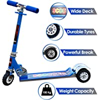 Zest 4 Toyz Skate Scooter for Kids with 3 Wheels and 3 Position Adjustable Height (Blue)