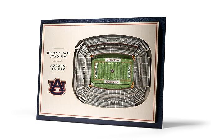 b763906809962d Amazon.com   YouTheFan NCAA Auburn Tigers 5-Layer StadiumView 3D Wall Art    Sports   Outdoors