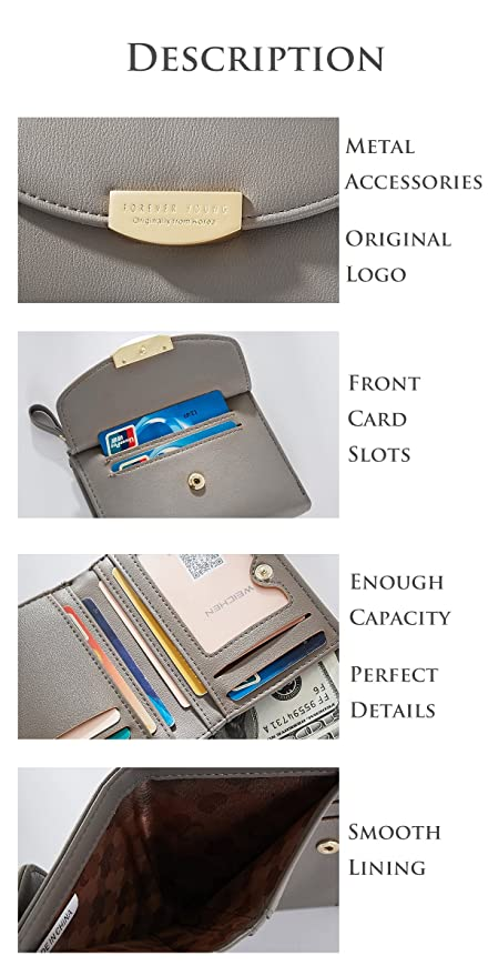 Amazon.com: portafolios fina mujer mini cartera tarjeta de ...