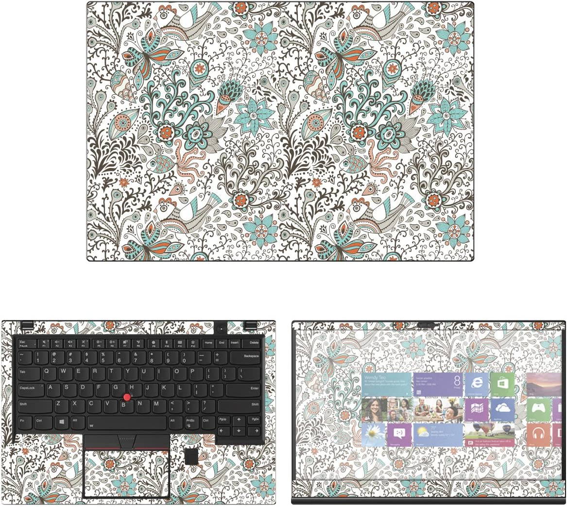 Decalrus - Protective Decal Floral Skin Sticker for Lenovo ThinkPad X1 Carbon (6th Gen.) (14