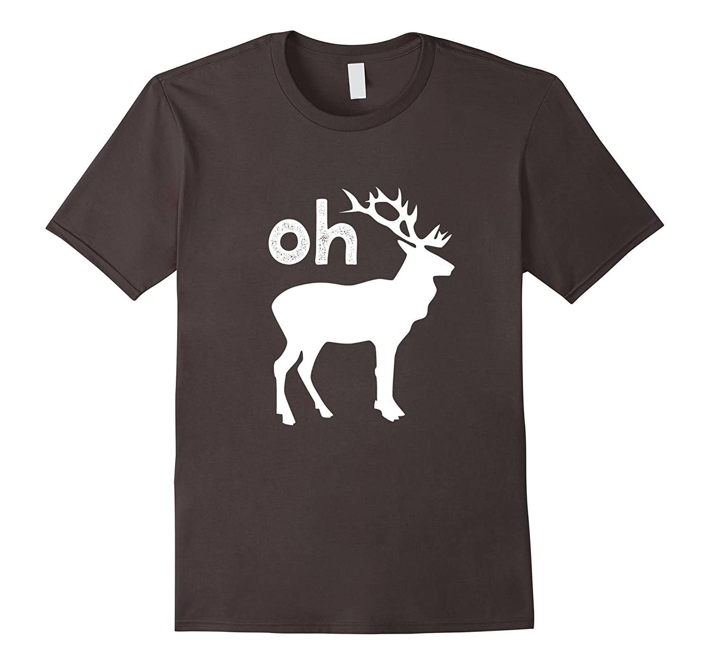 Oh Deer Christmas Shirt Funny Reindeer Pun Ugly T-Shirt Gift-ANZ ...
