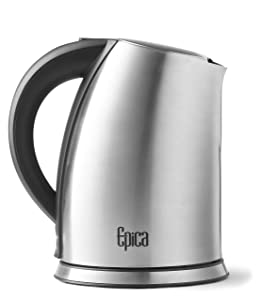 Epica 1.75 Quart Cordless Electric Stainless Steel Kettle New and Improved 2017!