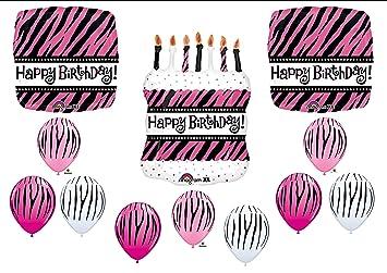 Amazoncom Fabulous BIRTHDAY PARTY Zebra Stripe Cake Balloons