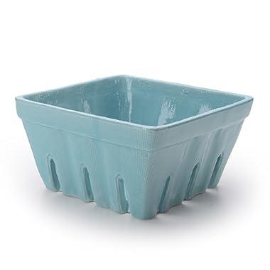 Signature Housewares Berry Bowl, 5-1/2-Inch, Blue